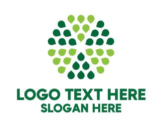 Petals - Green Hexagon Petals logo design