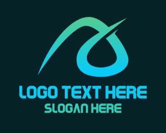 Stroke - Aqua A Stroke logo design