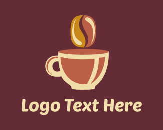 Latte - Brown Coffee Cup logo design