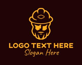 Hipster - Hipster Fireman logo design