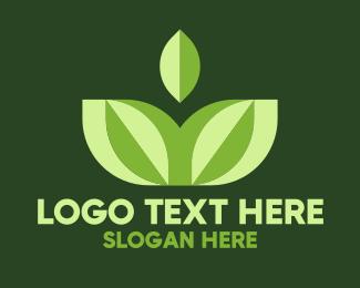 Ecologic - Yoga Green Leaf logo design