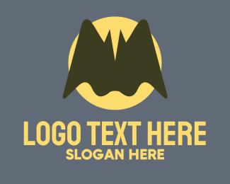 Bat - Flying Bat logo design