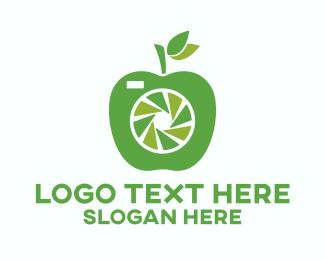 Cameraman - Green Apple Camera logo design