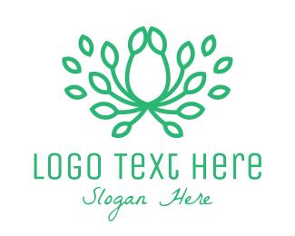Green Leaf - Green Leaf Crown logo design