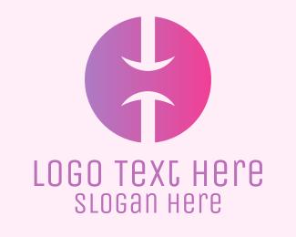 Lilac - Pink Gradient Letter H  logo design