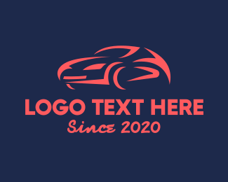 Drive - Red Racing Car logo design