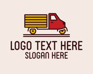 Hauling - Simple Truck  logo design