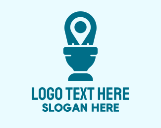 Toilet - Toilet Location Pin logo design