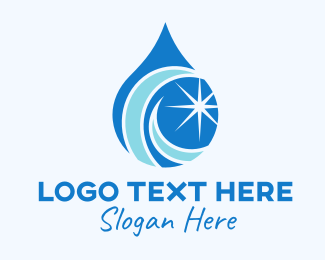 Plumbing - Star Bright Droplet logo design