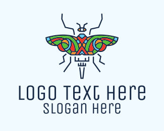 Beauty Parlor - Multicolor Butterfly Insect logo design