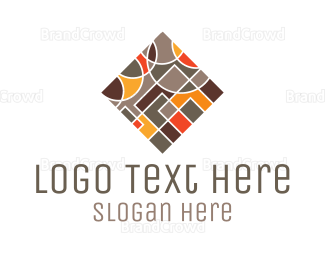 Pebble - Square Tile logo design