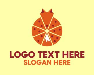Pepperoni - Pizza Fox logo design