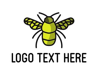 Glow - Green Bug logo design