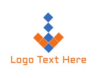 It Company - Arrow Pixels logo design
