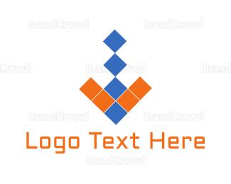 Bitmap - Arrow Pixels logo design