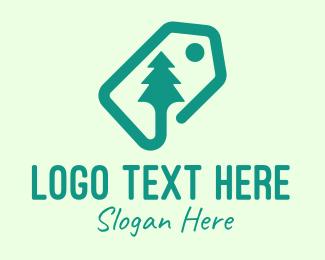 Pine Tree - Green Pine Tree Tag logo design