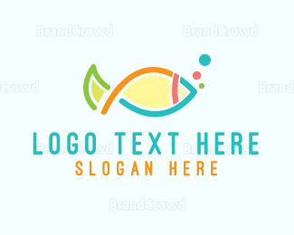 """""""Colorful Fish Outline"""" by LogoBrainstorm"""