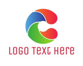 Swimming - Colorful Wave C logo design