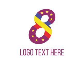 Eight - Purple Eight logo design