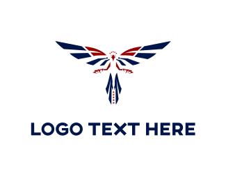 American - Blue Eagle logo design