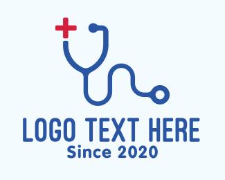 Red Cross - Medical Stethoscope Letter Y logo design