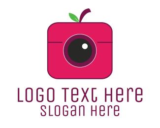 Strawberry - Berry Camera logo design