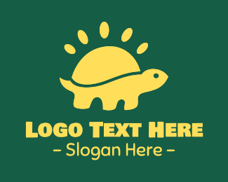 Sea Turtle - Yellow Sunny Turtle logo design