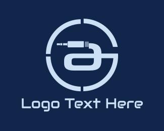 Wire - Connection Circle logo design