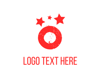 Bold - Red Planet & Stars logo design