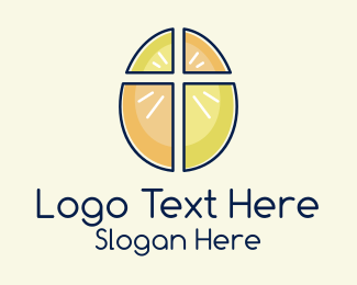 Christ - Easter Egg Cross  logo design