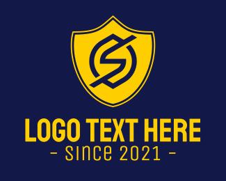 Solar Power - Electrical Shield Letter S logo design