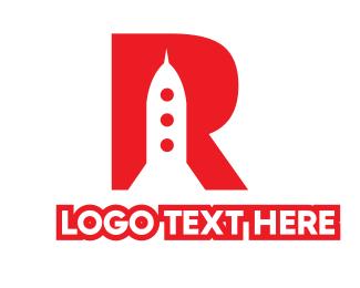 Red Rocket - Red R Rocket  logo design