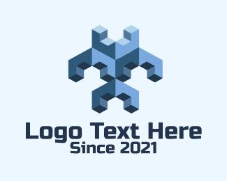 Minecraft - 3D Gaming Blocks logo design