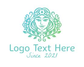 Beautiful Flower Queen  Logo