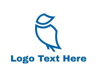 Ostrich - Blue Bird logo design