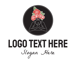 Meditation - Rose Head Meditation logo design