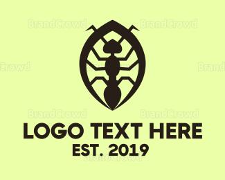 Small - Black Ant logo design