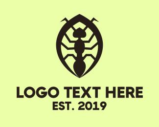 Ant - Black Ant logo design
