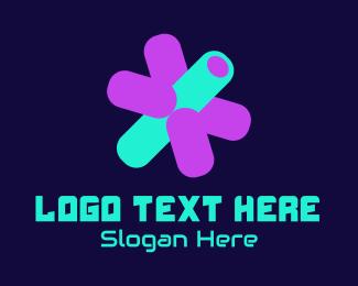 Three Dimension - 3D Isometric Asterisk logo design
