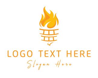 Torch - Yellow Torch logo design