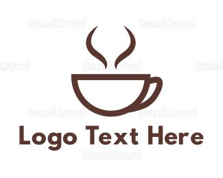 Cocoa - Brown Cup Coffee logo design
