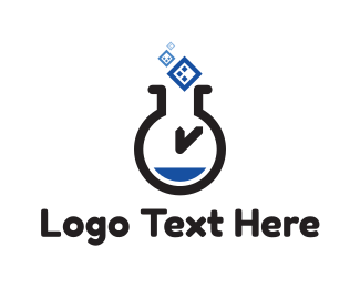 Test Tube - Time Lab logo design