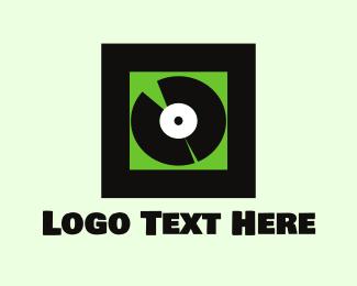 Music Production - Vinyl Record logo design