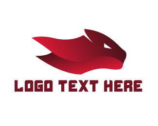 Red Tiger - Red Feline logo design