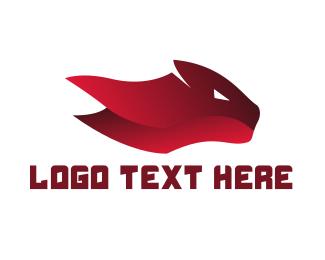 Red Tiger - Red Feline logo design