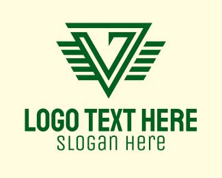 Training - Green Training Letter V logo design