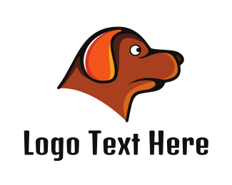 Brown Dog - Brown Dachshund logo design