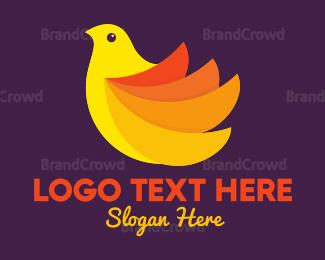 Small - Yellow Bird logo design