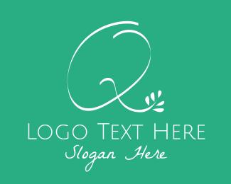 Letter Q - Floral Letter Q logo design