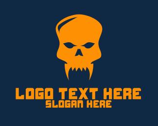 Skull - Black Fang Skull logo design